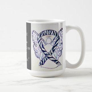 Neuroendocrine Cancer Awareness Ribbon Angel Mug