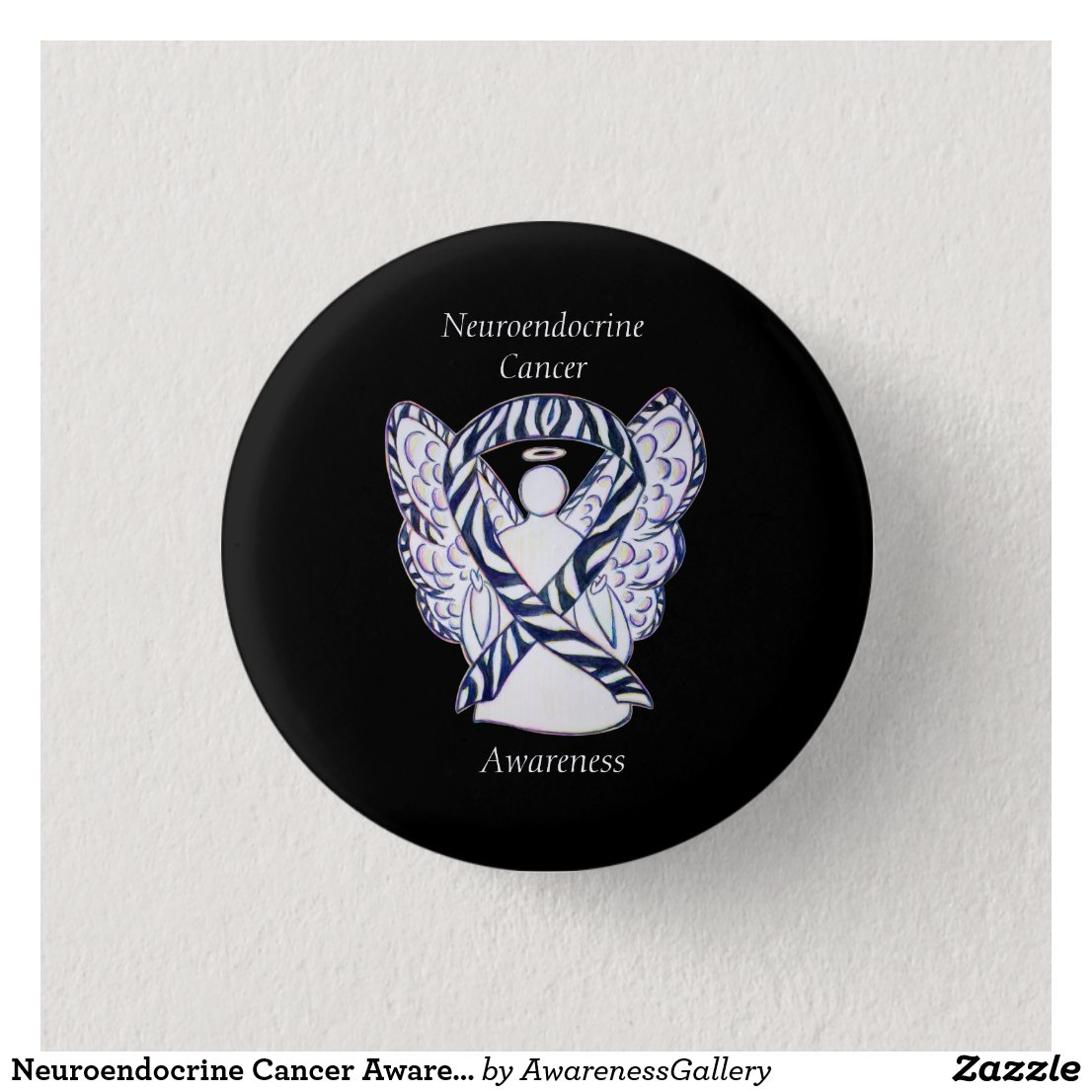 Neuroendocrine Cancer Awareness Ribbon Angel Pin