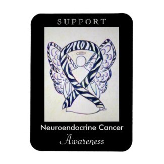 Neuroendocrine Cancer Awareness Ribbon Magnet