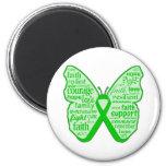 Neurofibromatosis Awareness Butterfly Ribbon 2 Inch Round Magnet