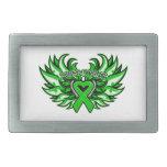 Neurofibromatosis Awareness Heart Wings Belt Buckle