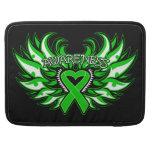 Neurofibromatosis Awareness Heart Wings MacBook Pro Sleeves