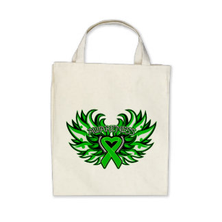 Neurofibromatosis Awareness Heart Wings.png Canvas Bags