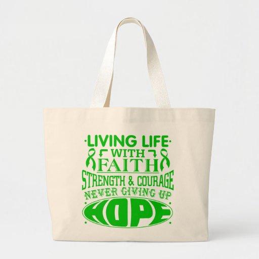 Neurofibromatosis Living Life with Faith Canvas Bag