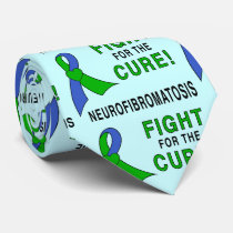 Neurofibromatosis Ribbon: Fight for the Cure! Neck Tie
