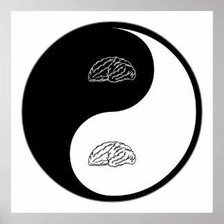 Neurología de Yin Yang Póster