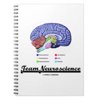 Neurología del equipo (actitud de la anatomía del  libros de apuntes con espiral