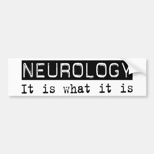 Neurología es pegatina de parachoque