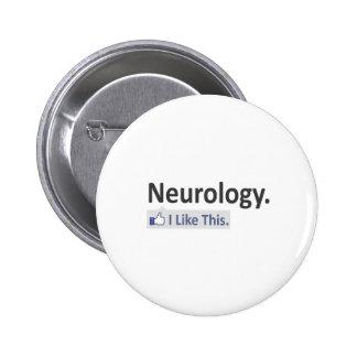 Neurología… tengo gusto de esto pin redondo de 2 pulgadas