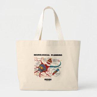 Neurological Plumbing Inside (Neuron / Synapse) Canvas Bag