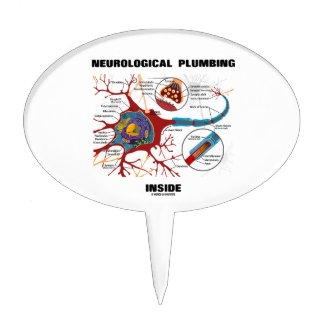 Neurological Plumbing Inside (Neuron / Synapse) Cake Pick