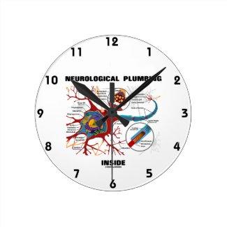 Neurological Plumbing Inside (Neuron / Synapse) Clock