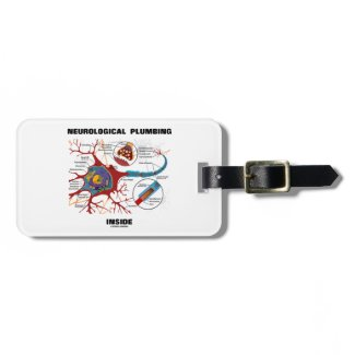 Neurological Plumbing Inside (Neuron / Synapse) Tag For Luggage