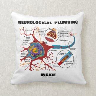 Neurological Plumbing Inside (Neuron / Synapse) Throw Pillow