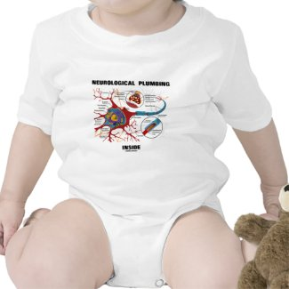 Neurological Plumbing Inside (Neuron / Synapse) Baby Bodysuits