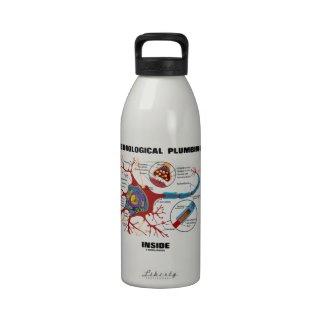 Neurological Plumbing Inside (Neuron / Synapse) Drinking Bottle