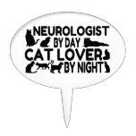 Neurologist Cat Lover Cake Picks