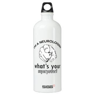 neurologist design aluminum water bottle