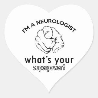 neurologist design heart sticker