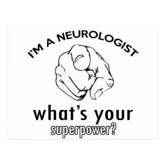 neurologist design postcard