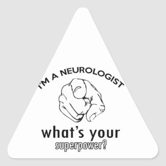 neurologist design triangle sticker