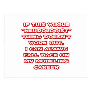 Neurologist Humor ... Modeling Career Postcard