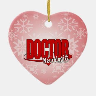 NEUROLOGIST LOGO BIG RED DOCTOR CERAMIC ORNAMENT