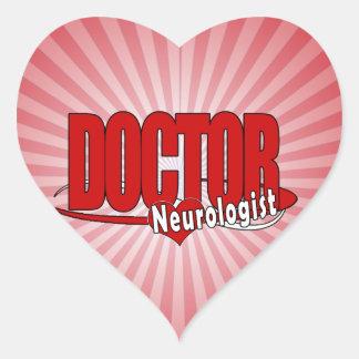 NEUROLOGIST LOGO BIG RED DOCTOR HEART STICKER