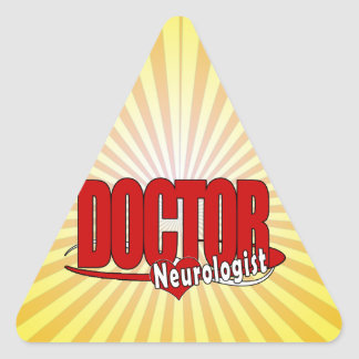 NEUROLOGIST LOGO BIG RED DOCTOR TRIANGLE STICKER