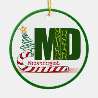 NEUROLOGIST MERRY CHRISTMAS NEUROLOGY CERAMIC ORNAMENT