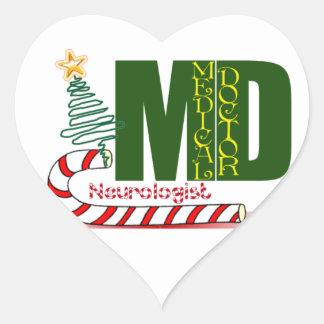 NEUROLOGIST MERRY CHRISTMAS NEUROLOGY STICKERS
