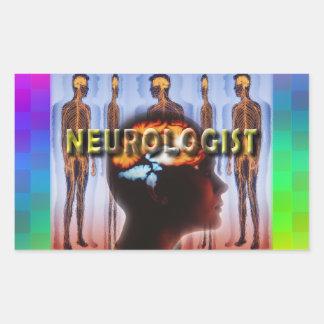 NEUROLOGIST NEUROLOGY RECTANGULAR STICKER