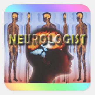 NEUROLOGIST NEUROLOGY SQUARE STICKER