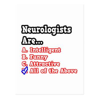 Neurologist Quiz...Joke Postcard