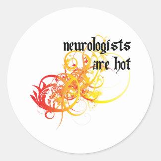 Neurologists Are Hot Classic Round Sticker