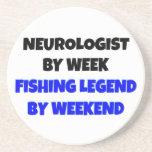 Neurólogo de la leyenda de la pesca posavaso para bebida