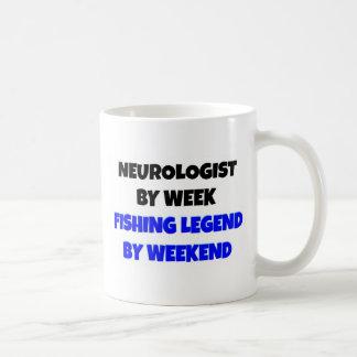 Neurólogo de la leyenda de la pesca taza básica blanca