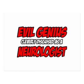 Neurólogo malvado del genio… tarjetas postales