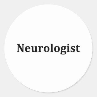Neurólogo Pegatina Redonda