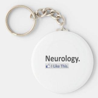 Neurology...I Like This Basic Round Button Keychain