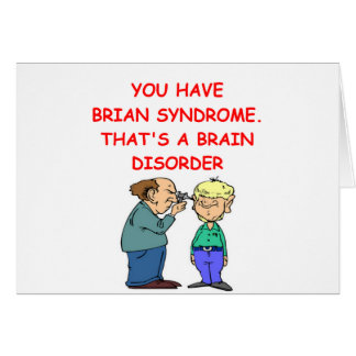 neurology joke greeting cards