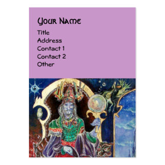 NEUROMANCER blue purple Business Card Template