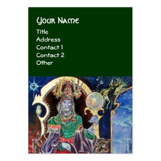 NEUROMANCER, blue red green Business Card Template