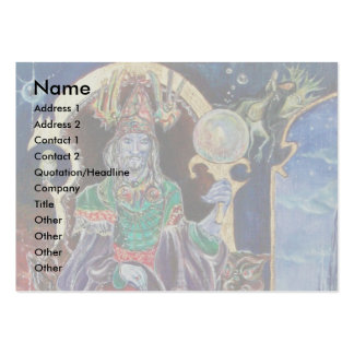 NEUROMANCER grey yellow blue red green black white Business Card