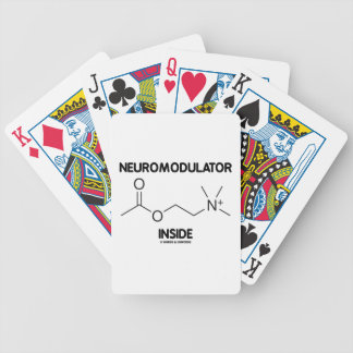 Neuromodulator Inside (Acetylcholine Molecule) Bicycle Playing Cards