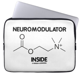 Neuromodulator Inside (Acetylcholine Molecule) Laptop Sleeve