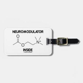 Neuromodulator Inside (Acetylcholine Molecule) Luggage Tag