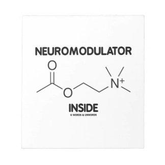 Neuromodulator Inside (Acetylcholine Molecule) Notepad