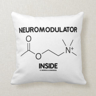 Neuromodulator Inside (Acetylcholine Molecule) Throw Pillow