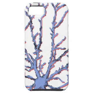 Neuron-Blue/Red Shadow iPhone 5 Case